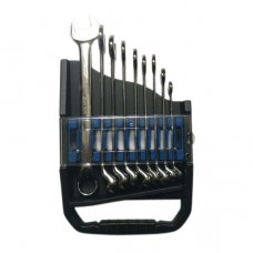 Black Hand Combination Wrench Set - Mirror Polished - 75° - 9pcs/Set - 8-19 mm
