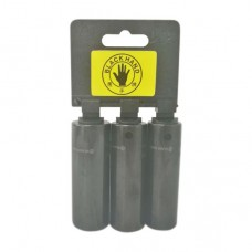 Black Hand Non-Slip Impact Socket 1/2'' x 6pt - 3pcs/Set - 17, 19, 21 mm