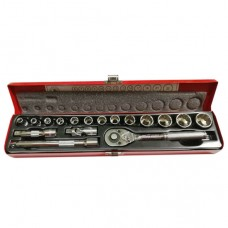 Black Hand Socket Set 3/8'' x 6pt & 12pt - 18pcs/Set - 6-22 mm