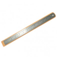 Black Hand Stainless Steel Ruler 12''