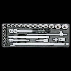 Honiton Socket Set - 27pc - 1/2'' Dr.