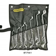 Stanley 75° Offset Ring End Wrench Set 7 pcs 1/4''-1-1/8''