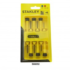 Stanley 6-Piece Bi-Material Handle Precision Screwdriver Set 66-052