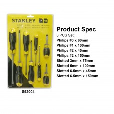 Stanley Cushion Grip 2 Screwdriver Set 92004