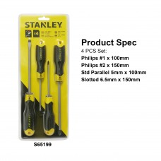 Stanley Cushion Grip 2 Screwdriver Set 65199