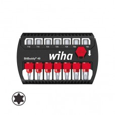 Wiha BitBuddy® 49 - Torx® - With Belt Clip - Blister Packed for Hanging - 7pcs - 36940