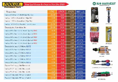 Tools & Safety Promo till 31st December 2019