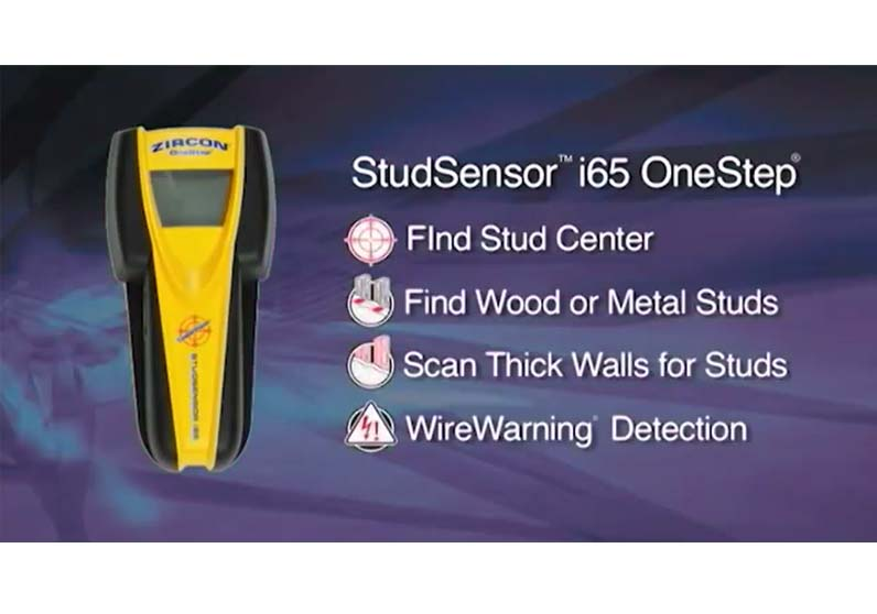 How to Use a Zircon StudSensor i65 OneStep Center Finding Stud Finder to Find Wall Studs