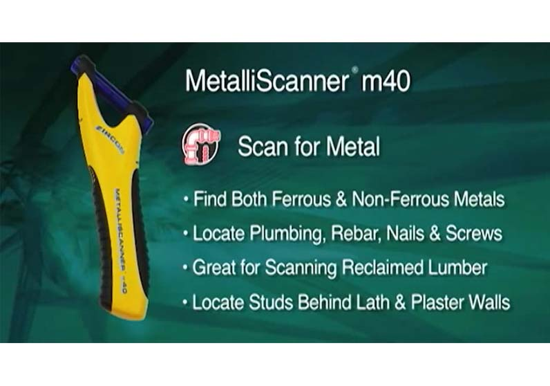 How to Use a Zircon MetalliScanner m40 Metal Detector to Find Nails Studs in Lath & Plaster